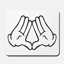 Dope Hands Triangle Sign Mousepad