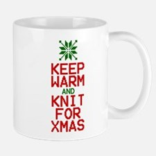 Keep Warm and Knit for Xmas Mugs