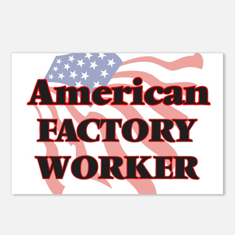 American Factory Worker Postcards (Package of 8)