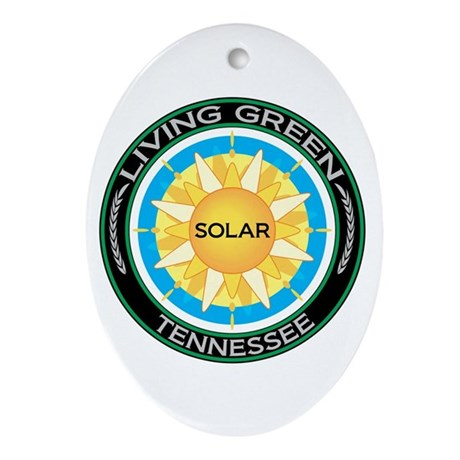 Living Green Tennessee Solar Energy Ornament (Oval