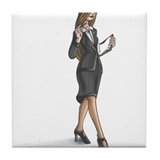 Business Woman Tile Coaster