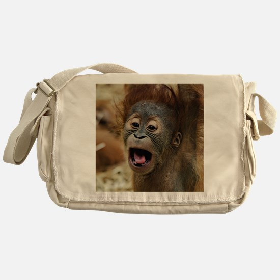 Unique Baby orangutan Messenger Bag