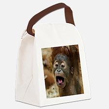 Cute Baby orangutan Canvas Lunch Bag