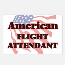 American Flight Attendant Postcards (Package of 8)