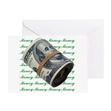MONEY MONEY MONEY Greeting Card