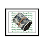 MONEY MONEY MONEY Framed Panel Print