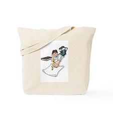 Boy Doing Homework Tote Bag