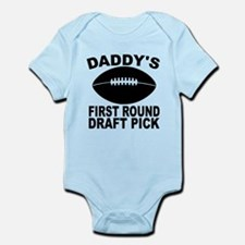 Daddys First Round Draft Pick Football Body Suit