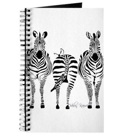 Cute Zebra Print Journal
