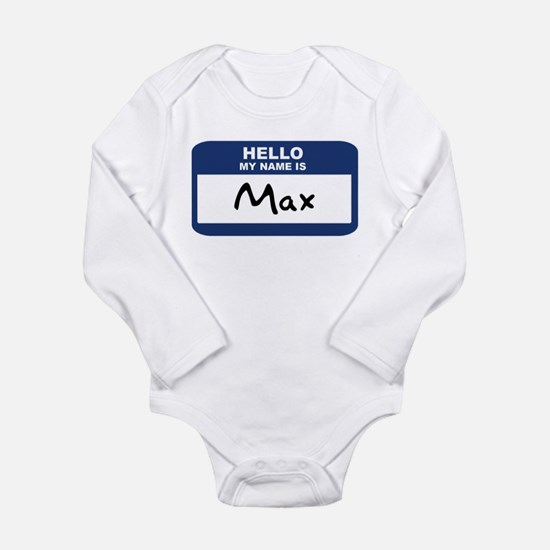 Cute Hello my name is nico Long Sleeve Infant Bodysuit