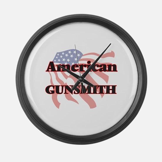 American Gunsmith Large Wall Clock
