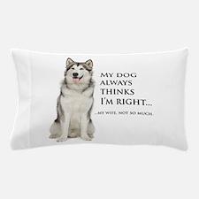 Husky vs Wife Pillow Case
