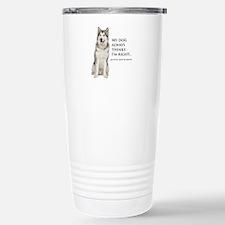 Husky vs Wife Travel Mug