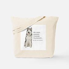 Husky vs Wife Tote Bag