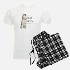 Husky vs Wife Pajamas