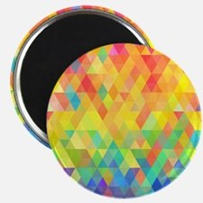 Rainbow Diamond Pattern Magnets