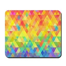 Rainbow Diamond Pattern Mousepad