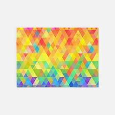 Rainbow Diamond Pattern 5'x7'Area Rug