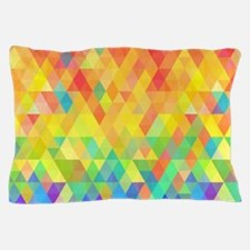 Rainbow Diamond Pattern Pillow Case