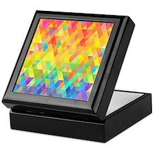 Rainbow Diamond Pattern Keepsake Box
