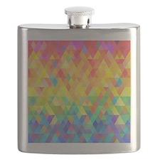 Rainbow Diamond Pattern Flask
