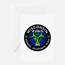WI ZRT Green Greeting Cards