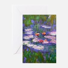 Cute Claude monet waterlilies Greeting Cards (Pk of 20)