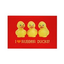 I Love Rubber Ducks Rectangle Magnet