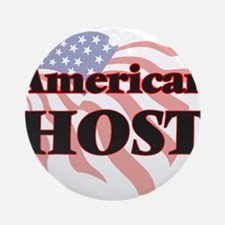 American Host Round Ornament