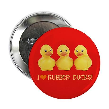 "I Love Rubber Ducks 2.25"" Button (100 pack)"