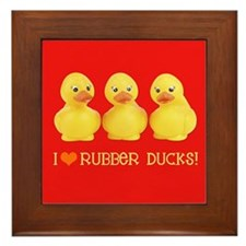I Love Rubber Ducks Framed Tile
