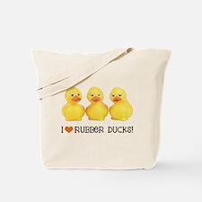 I Love Rubber Ducks Tote Bag