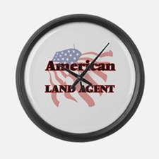 American Land Agent Large Wall Clock