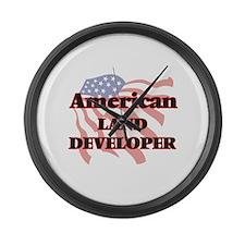 American Land Developer Large Wall Clock