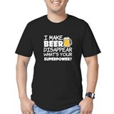 Beer disappear Fitted Dark T-Shirts