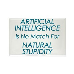 Natural Stupidity Rectangle Magnet (10 pack)