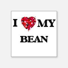 """Cute Bean Square Sticker 3"""" x 3"""""""