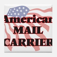 American Mail Carrier Tile Coaster