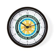 Living Green Rhode Island Solar Energy Wall Clock