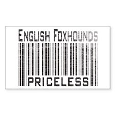 English Foxhound Dog Owner Lo Sticker (Rectangular
