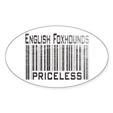 English Foxhound Dog Owner Lo Oval Decal