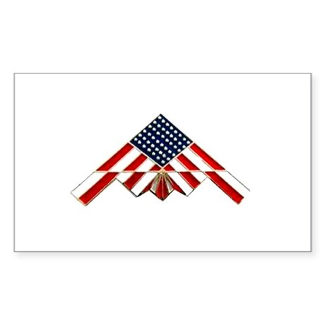 Stealth Flag Rectangle Sticker