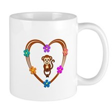 Monkey Heart Mug