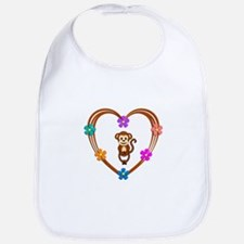 Monkey Heart Bib