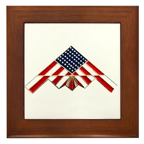 Stealth Flag Framed Tile