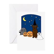 Curly-Coat Halloween Greeting Card