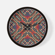 Aztec Pattern Earthy Warm tones Wall Clock