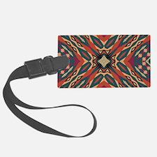 Aztec Pattern Earthy Warm tones Luggage Tag