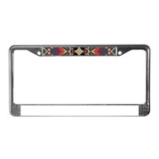 Aztec Pattern Earthy Warm tone License Plate Frame