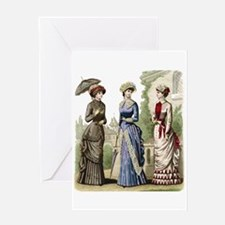 Le Monde Elegant - 1882 Greeting Card